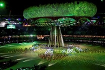 Giant Aerostat transforms into the 'Tree of Knowledge' during the Opening Ceremony of the Games_0_3x2