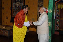 Modi with Jigme Wangchuk