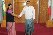 Sushma with Wunna Maung Lwin
