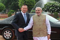 Modi with Tony Abbott