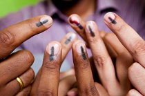 India voting finger