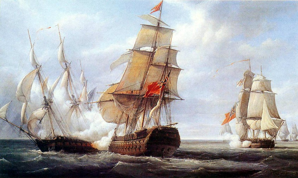 HMS Minden (launched in 1810) was the first-ship-of-line built for the Royal Navy outside the United Kingdom. It was built of teak, and constructed at the Bombay Dockyards by a descendant of the famous Wadia ship-builders family. The Minden was the flagship of Royal Navy fleet during the British-American War of 1812. Image Credit: Wikipedia