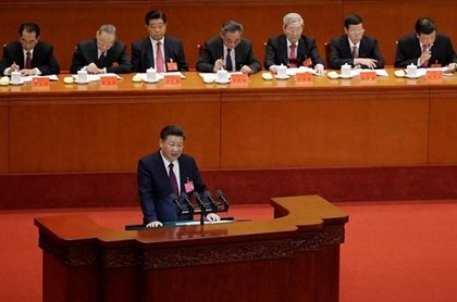 xi giving speech