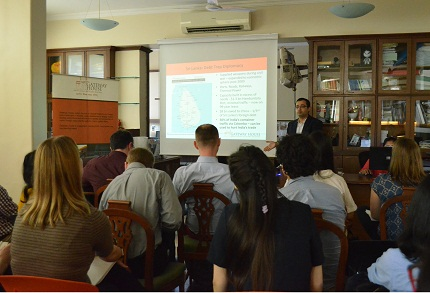 Briefing to the students from the University of Chicago