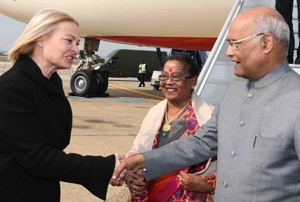 Indian President visits Croatia