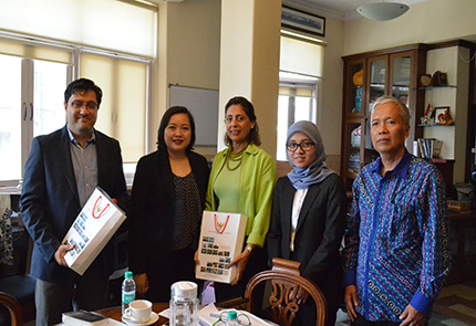 Indonesian foreign ministry officials' visit