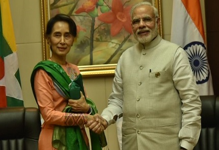 Conversation between PM and State Counsellor of Myanmar