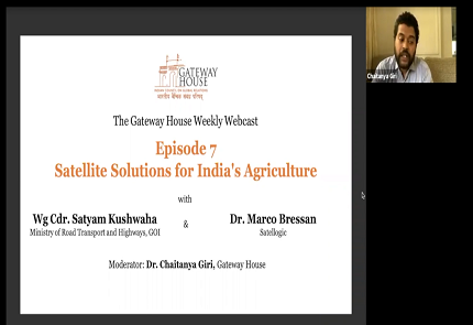Gateway House Webcast: Satellite Solutions for India's Agriculture